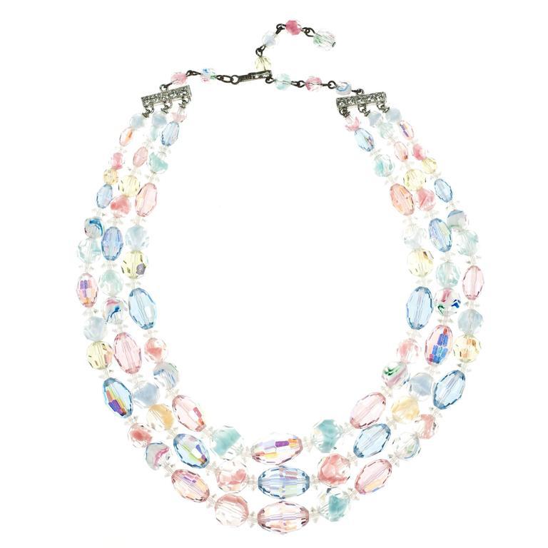 Vintage Laguna Pastel Necklace & Earrings 1