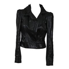 Louis Vuitton Black Leather Jacket