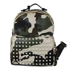 Valentino Camouflage Leather Studded Backpack
