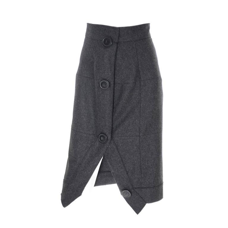 Vivienne Westwood Vintage Skirt Gray Wool Cashmere Avant Garde Anglomania