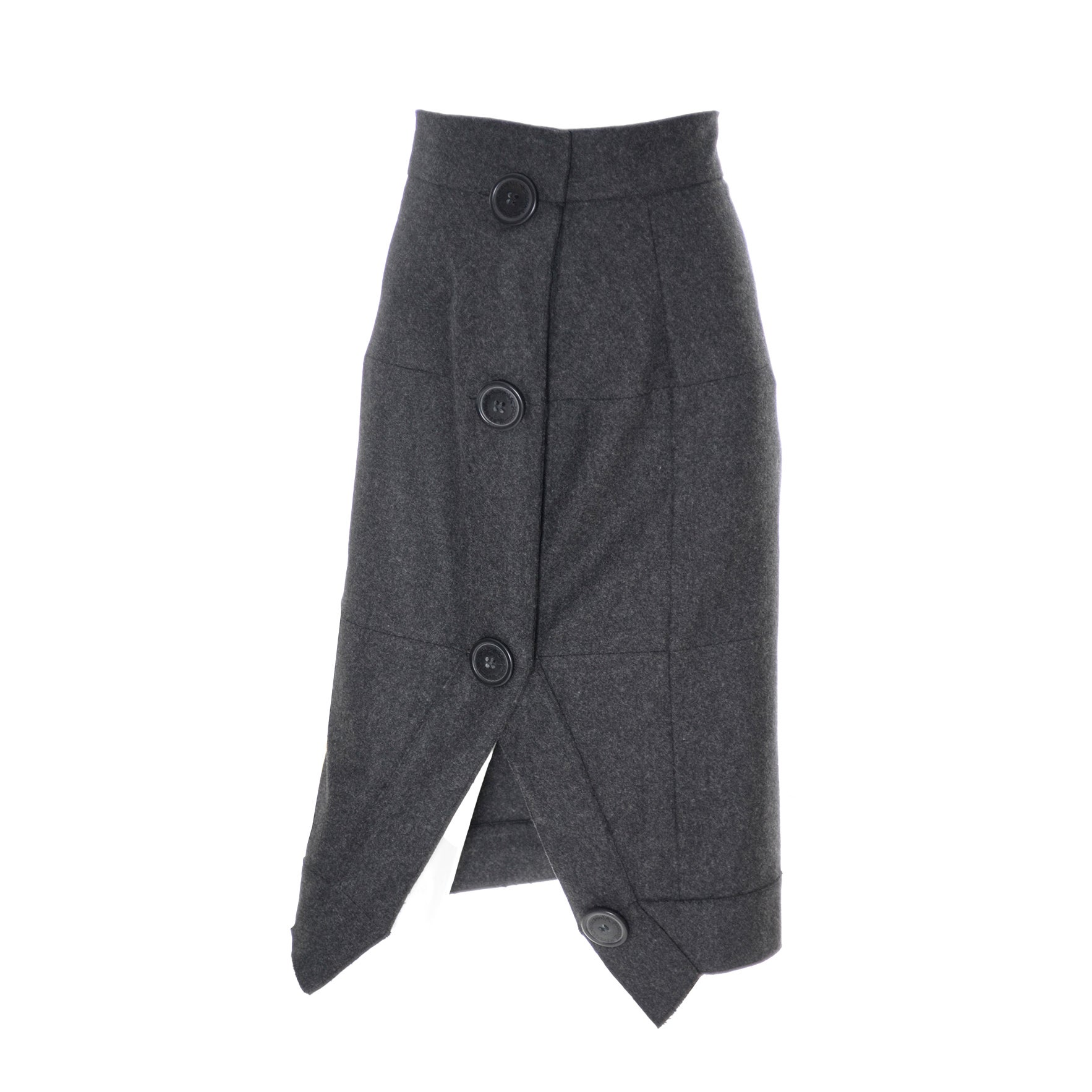 65f75f00a Vivienne Westwood Vintage Skirt Gray Wool Cashmere Avant Garde Anglomania  For Sale at 1stdibs