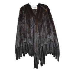 Revillon Mahogany Sable Cape with Mink Tail