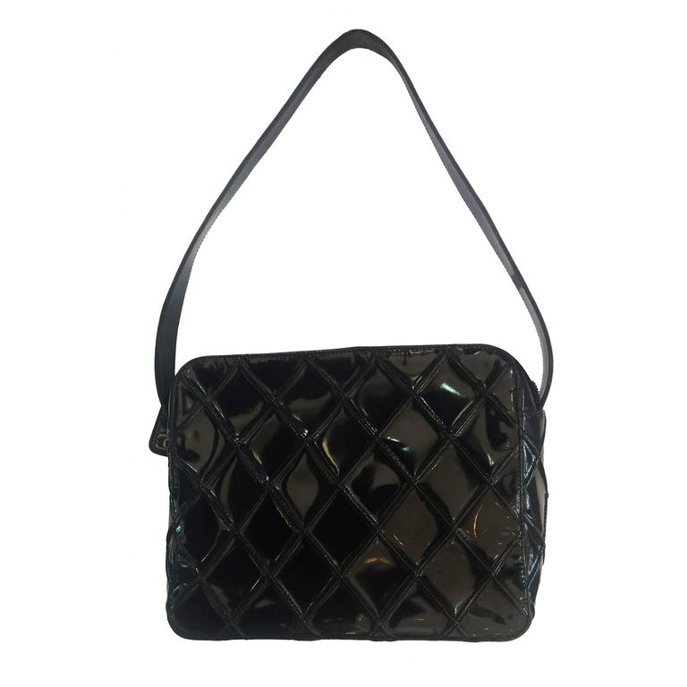 1stdibs Black Patent Bag With Enamel, France