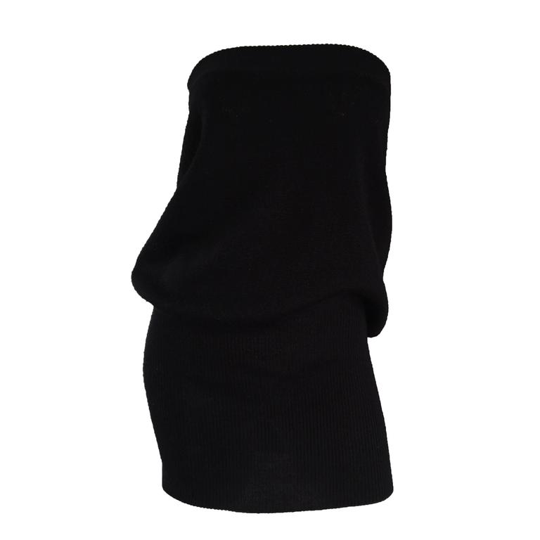 Sexy Vintage Patrick Kelly 1980s 80s Black Wool Strapless Dress, Top, or Skirt