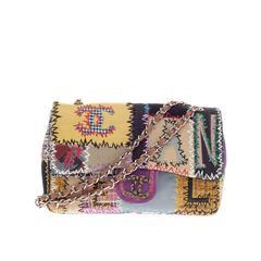 Chanel Classic Flap Multicolor Patchwork Jumbo