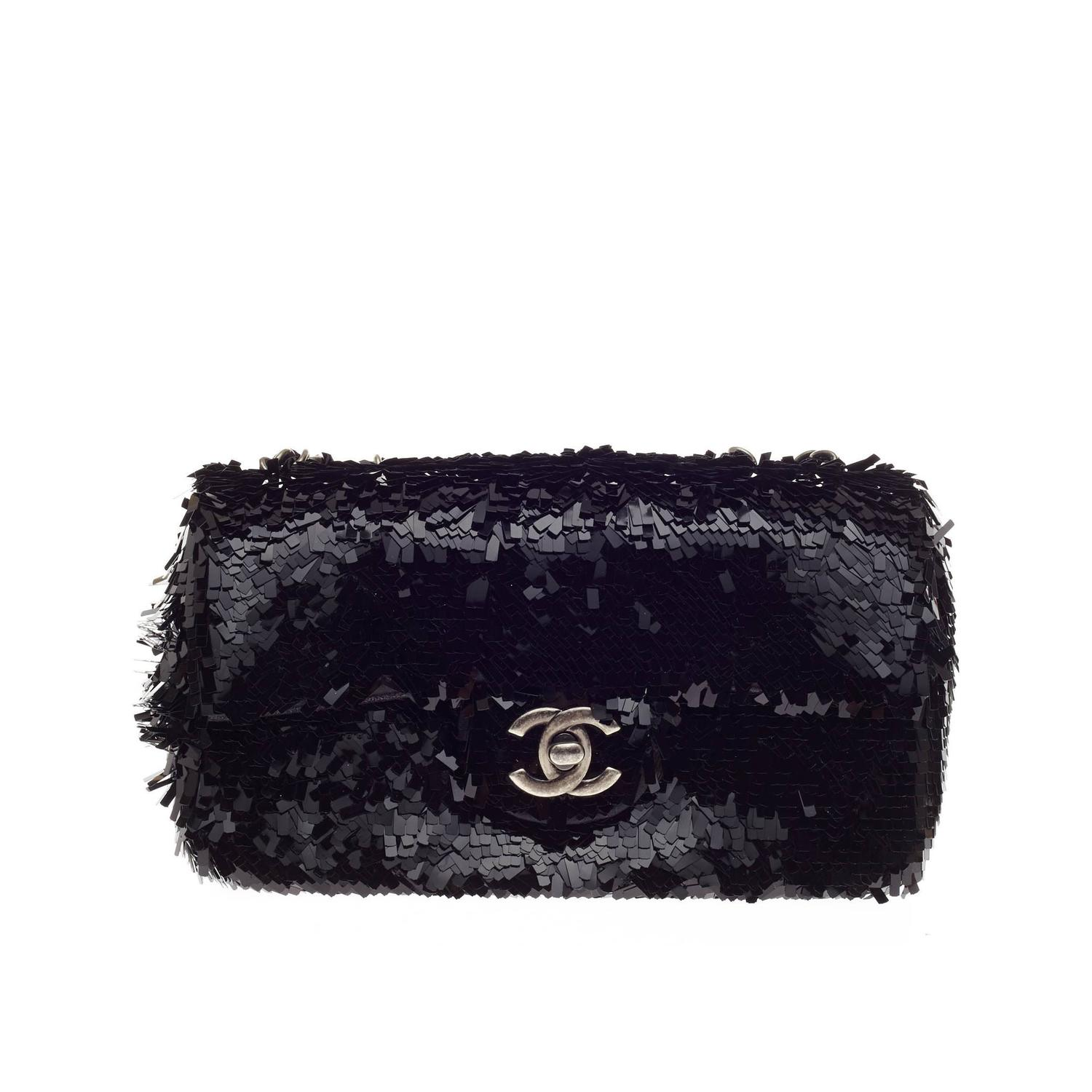 Chanel Flap Bag Embroidered Sequin Small at 1stdibs