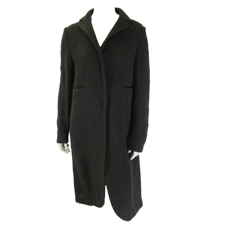 Marni Long Taupe Wool Sweater Coat