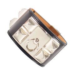 Hermès Collier de Chien Veau Chamonix Black Palladium Hardware Bracelet