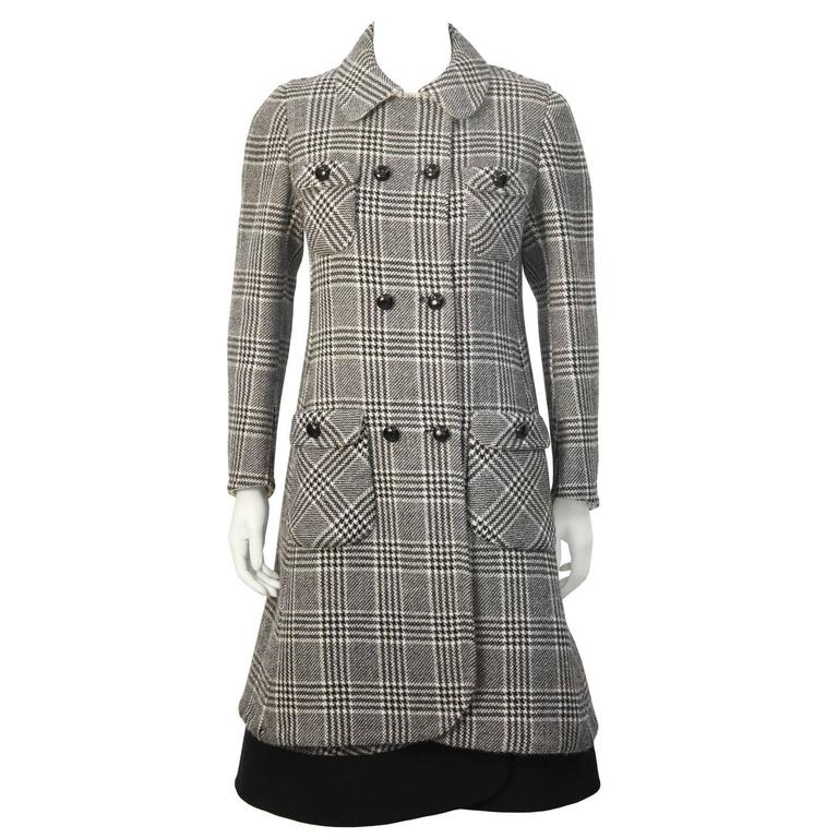 1960's Anonymous Bonded Wool Glen Check Dress and Coat Set