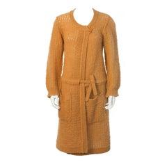 1980's Sonia Rykiel Oversized Peach Hand Knit Cardigan