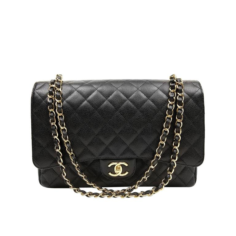 Chanel Black Caviar Leather Maxi with GHW 1