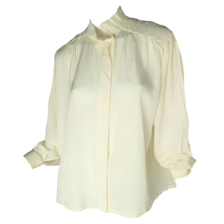 Krizia Silk Blouse For Sale