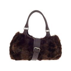 Fendi Selleria Belted Shoulder Bag Mink