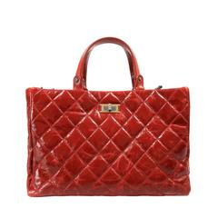 Chanel Red Patent Leather Rita Tote Bag