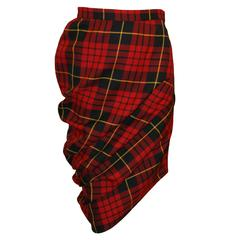 "Alexander McQueen A/W 1998 ""Joan"" Collection Tartan Plaid Tube Skirt"