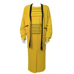 1980's Sonia Rykiel Yellow Knit Ensemble