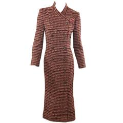 Brown & Pink Chanel Tweed Viscose Coat
