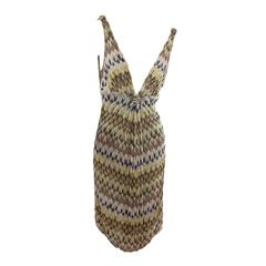 Multicolor Missoni Sleeveless Knit Dress