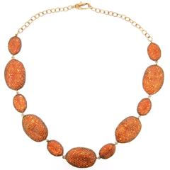 Amber Crystal Rococo Necklace by JCM London