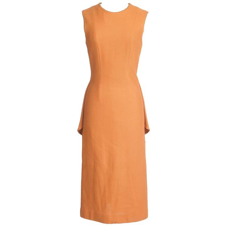 The Row Dress Mid Calf Dorning Rear Peplum  6  nwt