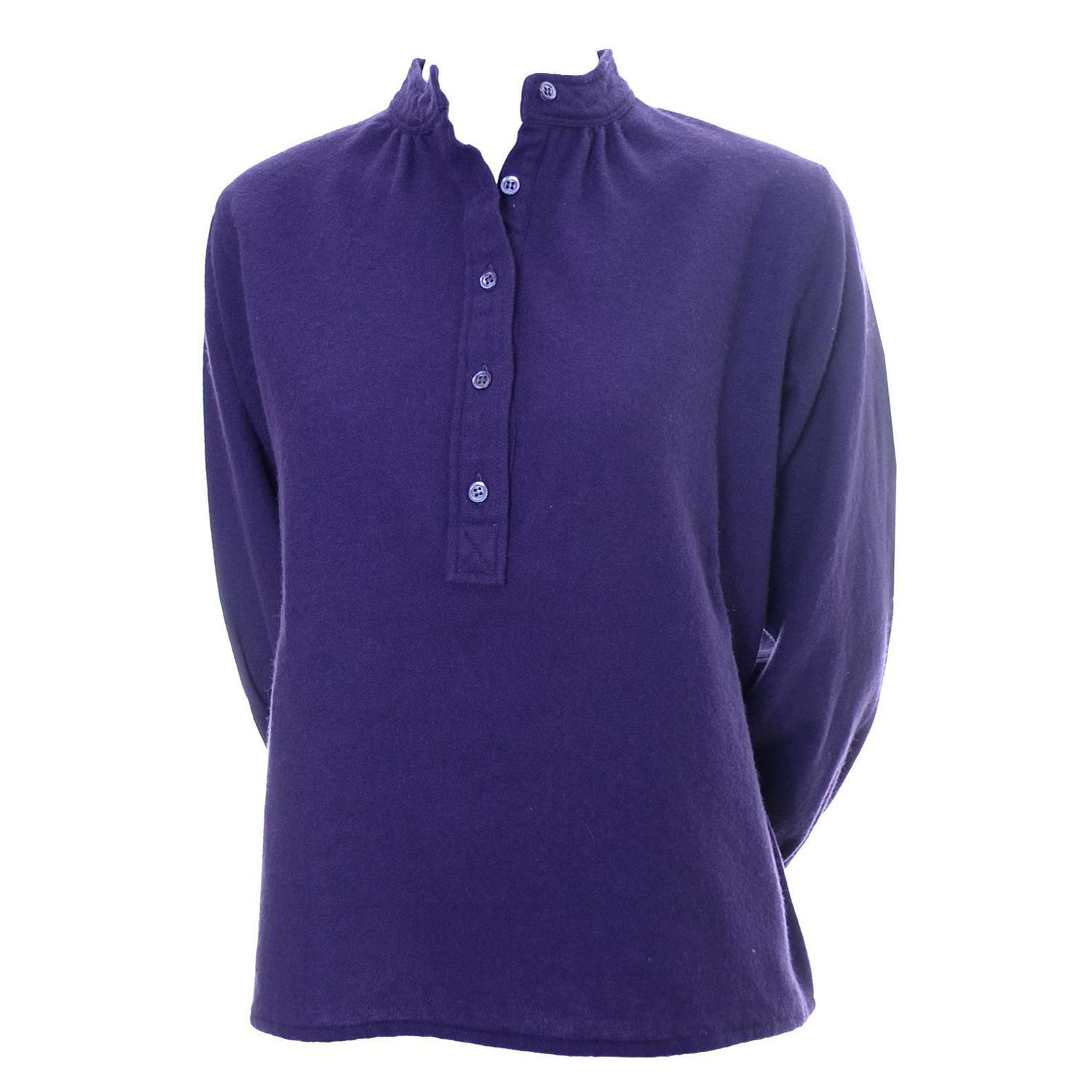 Ysl Purple Peasant Blouse 14