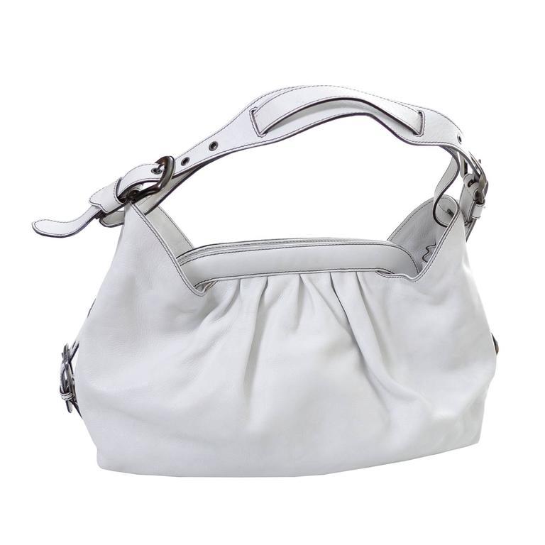 6ad8d66dfaa5 Fendi Borsa Bag White Leather Doctor Hobo Handbag at 1stdibs