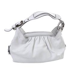 Fendi Borsa Bag White Leather Doctor Hobo Handbag