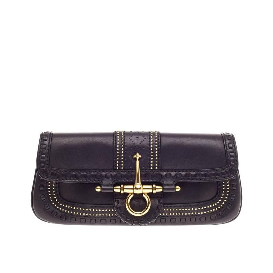 ab8c96ac0cb Gucci Snaffle Bit Convertible Clutch Leather at 1stdibs