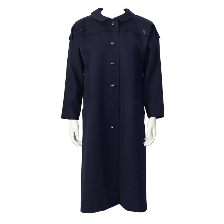 1970's Pierre Cardin Navy Trench  1