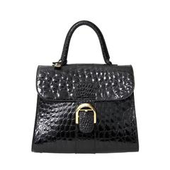 Delvaux Black Croco Brillant