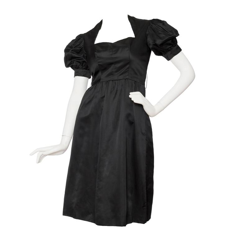 70s Oscar de la Renta Silk Satin Cocktail Dress