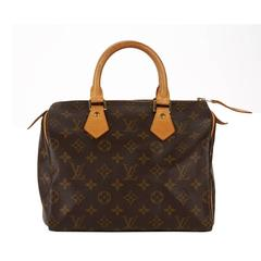 1990s Louis Vuitton Brown Classic Monogram Canvas Speedy 25