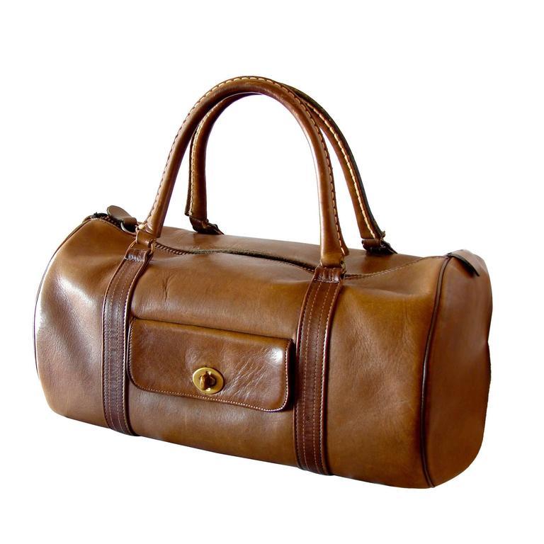 Rare Bonnie Cashin Coach Saddle Leather Safari Bag Duffel