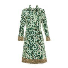 Christian Dior By John Galliano Silk Embellished Leopard Coat, Resort 2008