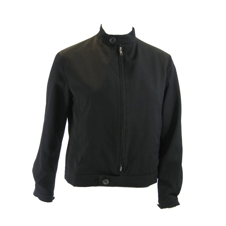 Y's Yohji Yamamoto Black Bomber Jacket