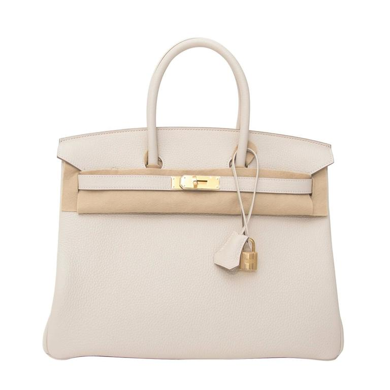 88dc336cab Hermes Birkin 35 Craie White Clemence Taurillon GHW at 1stdibs