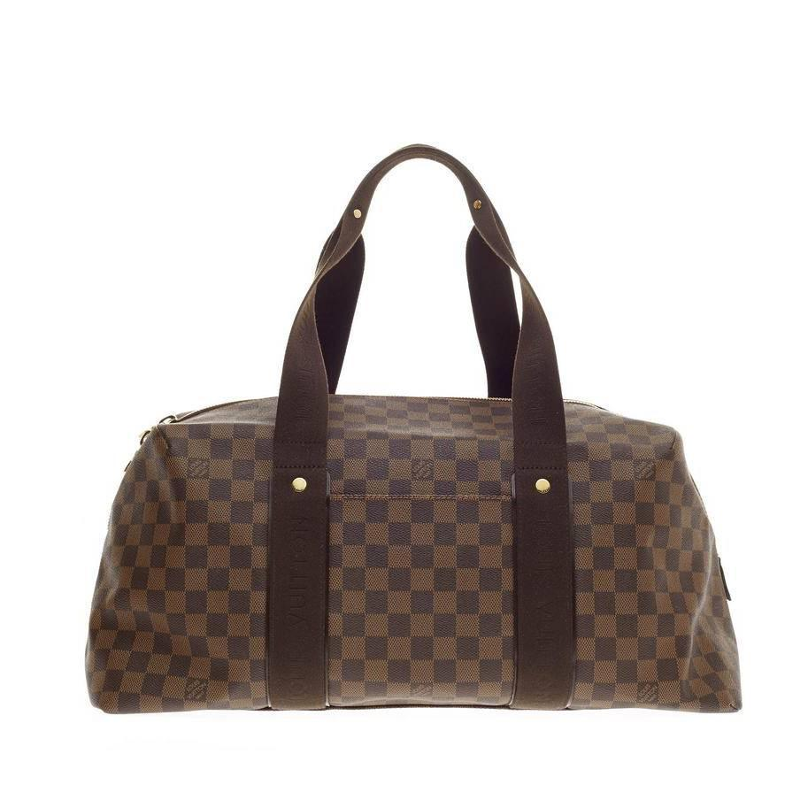 louis vuitton beaubourg weekender damier mm at 1stdibs. Black Bedroom Furniture Sets. Home Design Ideas