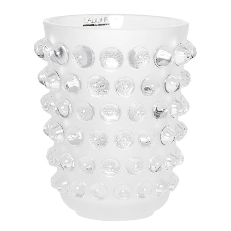 Lalique Clear Crystal Art Deco Vase