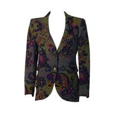 1980's Ungaro Khaki Floral Blazer