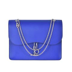Hermes Catenina Bag Clutch Blue Electric Gorgeous New Bag! JaneFinds