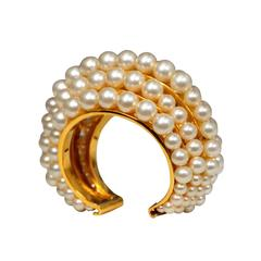 Chanel Graduated Pearl Cuff