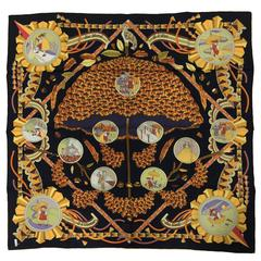 """Hermes L'Ombrelle Magique silk twill scarf by Pierre Marie 36"""" x 36"""""""