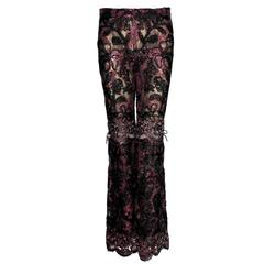 Collector's Gucci by Tom Ford FW 1999 Embroidered Lace Pants - Museum Piece