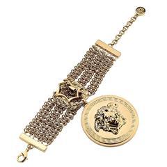 Iconic VERSACE Gold Chain Medusa Bracelet