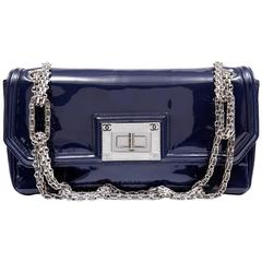 Chanel Navy Blue Patent Leather Reissue Flap Bag- Medium