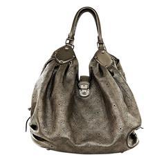 Bronze Leather Louis Vuitton Mahina XL Hobo Bag