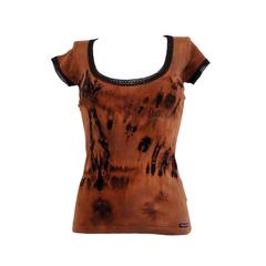 2000s Dolce & Gabbana brown and black shirt