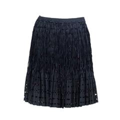 2000/2005  ALAIA  Unique Black  Beaded and Fringed  Short Skirt