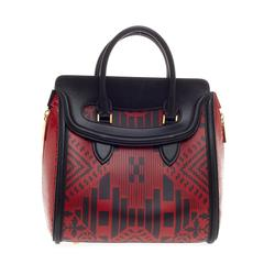 Alexander McQueen Heroine Tote Leather and Python