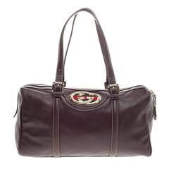 Gucci Britt Boston Duffle Leather Large